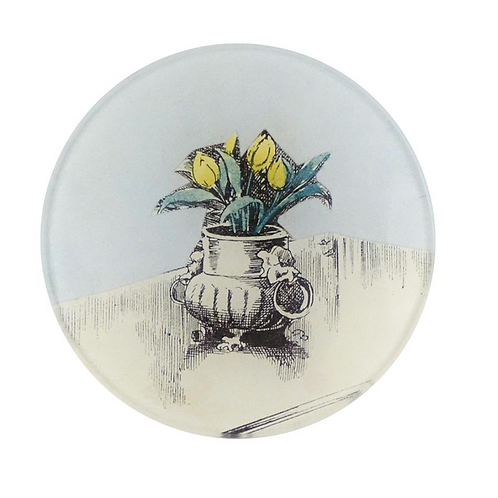 "Assiette decorative mini ""Vase on Table"" 10cm"