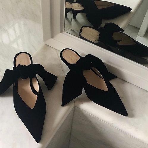 Souliers Gia Couture Velour noir