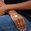 Thumbnail: Chevalière en vermeil 18 carats et émail Heart WILHELMINA GARCIA