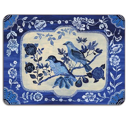 """Set de Table rectangulaire """"Blue butterfly"""""""