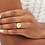 Thumbnail: Chevalière en vermeil 18 carats et émail Clover WILHELMINA GARCIA