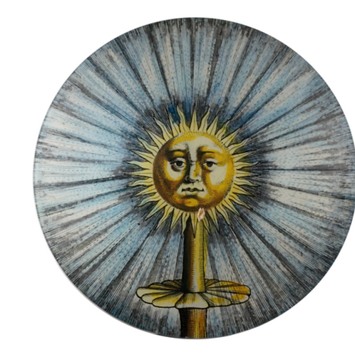 "Grande Assiette decorative ""Sun Fountain"" John Derian"