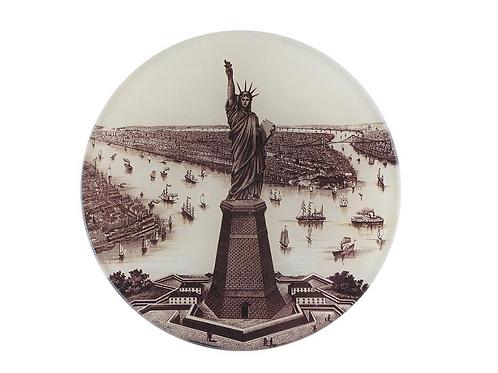"""Assiette ronde """"Lady Liberty"""" 13cm"""