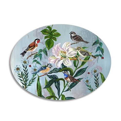 """Set de table oval """"Garden Birds"""""""