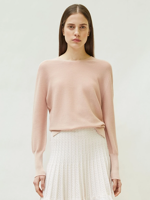 TOP FIN EN MAILLE MOLLI ROSE TENDRE