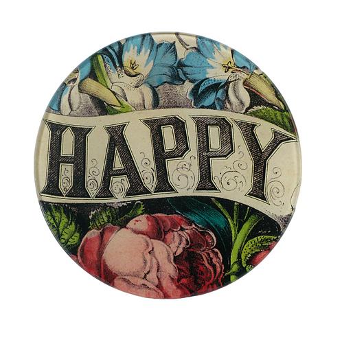 "Assiette ronde ""Happy"" 13cm"