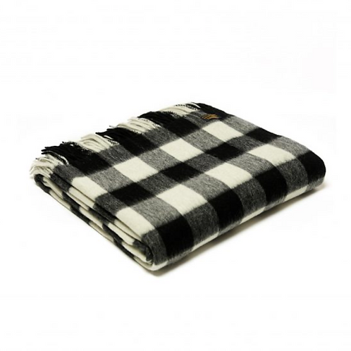 Plaid Lambswool Chequered Board Black