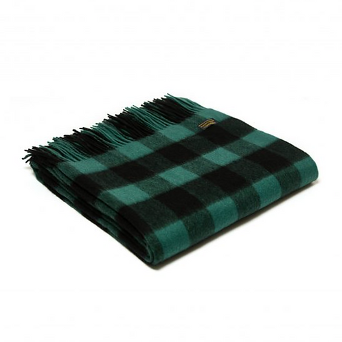 Plaid Lambswool Chequered Board Emerald