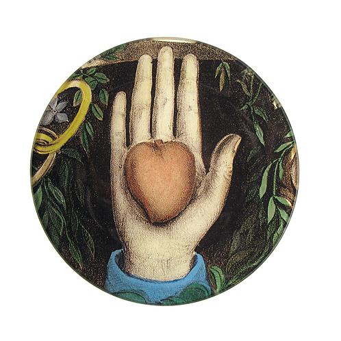 """Assiette décorative """"Heart in Hand"""" 13cm John Derian"""
