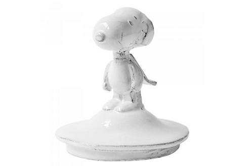 Couvercle pour bougie en verre Snoopy