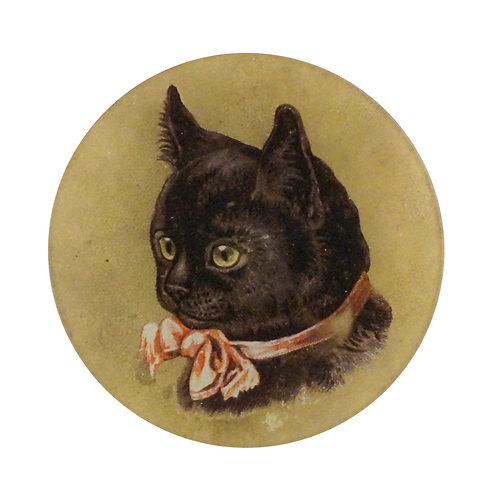 "Assiette décorative ""Black Kittens"" 15cm John Derian"