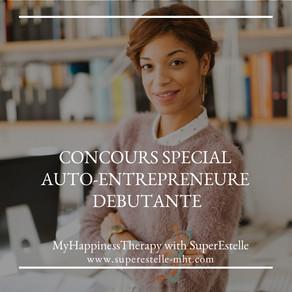 Concours spécial auto-entrepreneurE débutante.