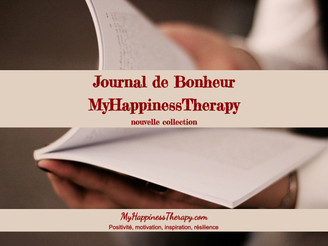 Journal de Bonheur MyHappinessTherapy – nouvelle collection.