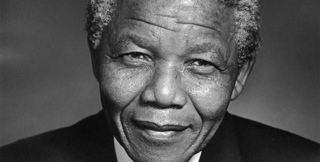 Portrait de Nelson Mandela, Prix Nobel de la Paix en 1993