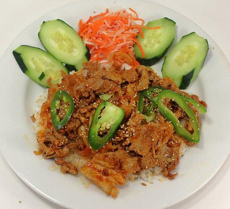 38. Cơm Thịt Heo Cay Đại Hàn