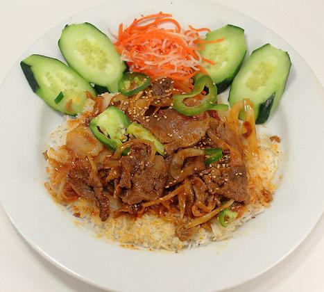 39. Cơm Thịt Bò Cay Đại Hàn
