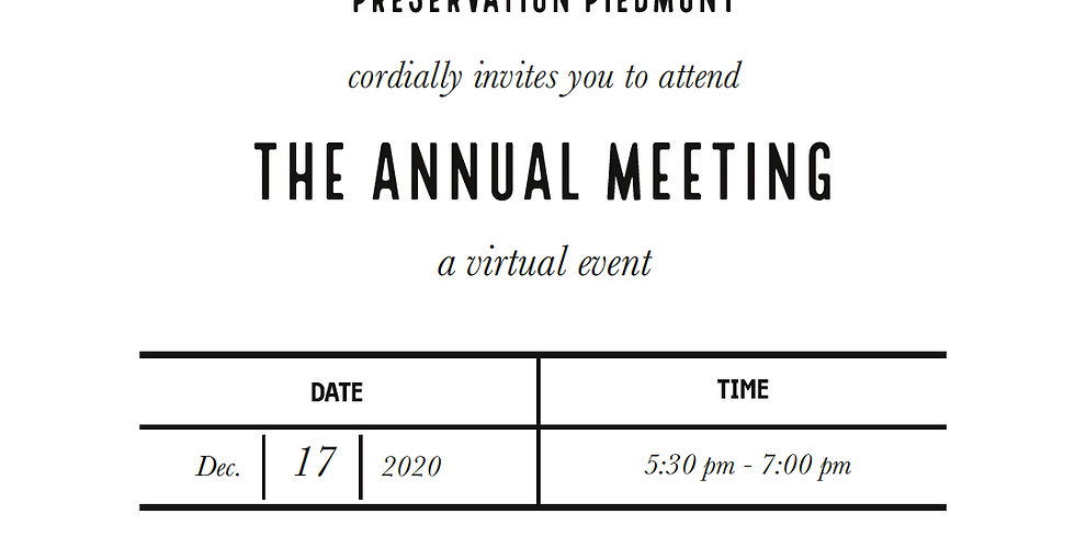 Preservation Piedmont Annual Meeting