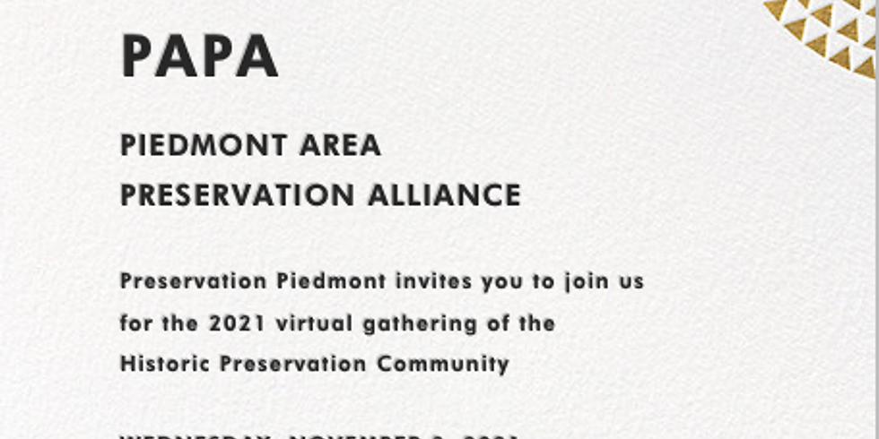 Virtual PAPA: Piedmont Area Preservation Alliance