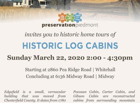 Historic Log Cabins  Tour