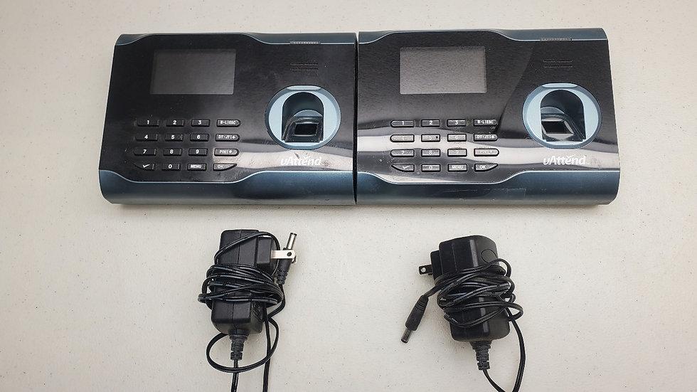 Lot of two uAttend BN6500 Wi-Fi Biometric Fingerprint Time Clocks!