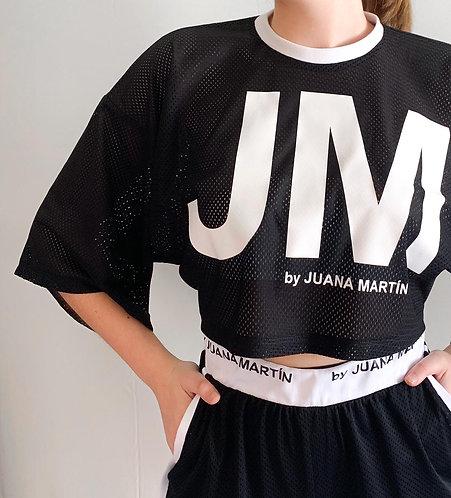 Camiseta Cropped ancha