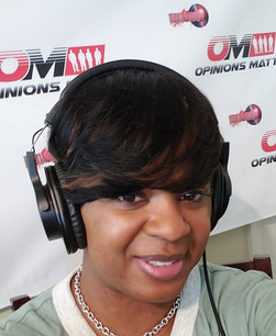 On the set of The Opinions Matter Radio Show