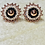 Thumbnail: Rose Gold, Black and Cream Studs
