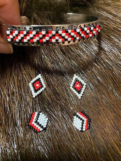 Bracelet & 2 Pair of Studs
