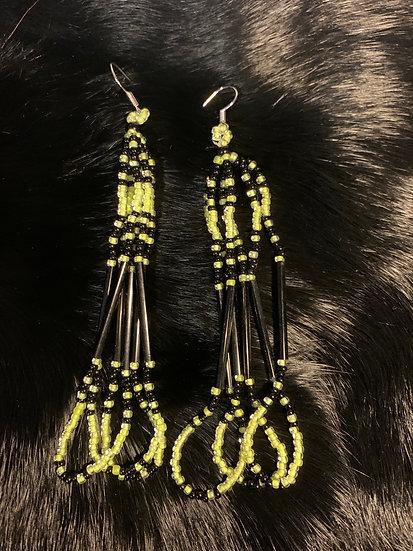 Neon & Black Loop Dangles