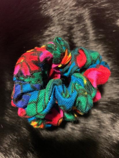 Scrunchies - Blue Granny Scarf Print
