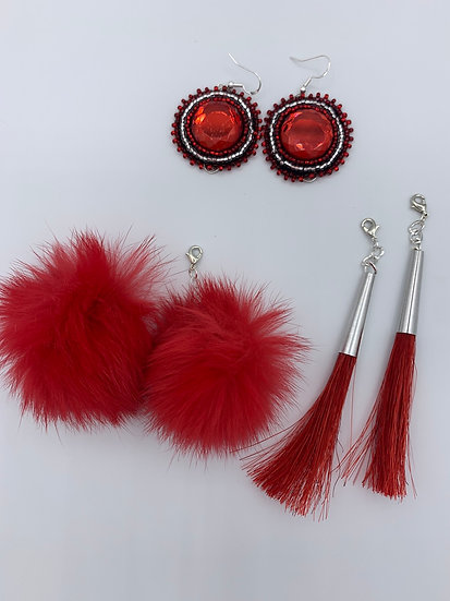 3 in 1 Red & Silver Set