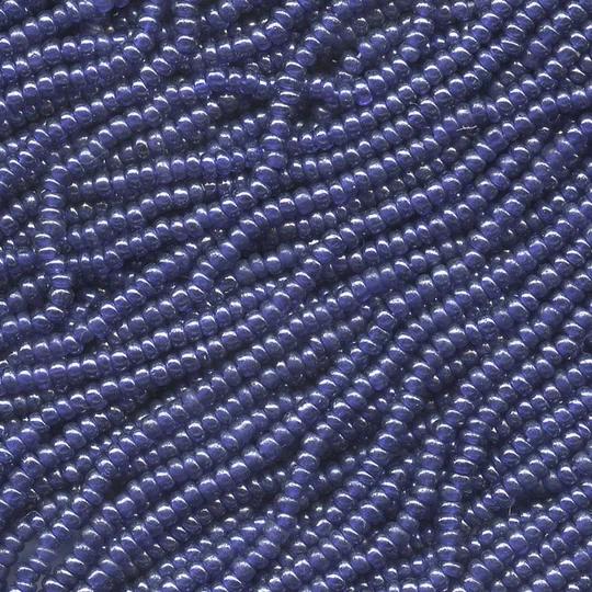 Vintage Czech Pearl Opaque Blue Size 16/0