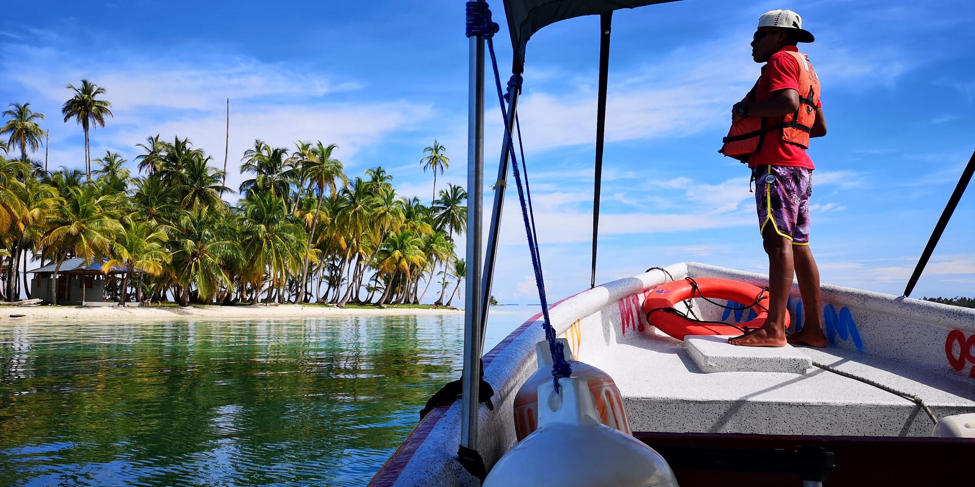 Llegando a Isla Pelicano de la Casa de P