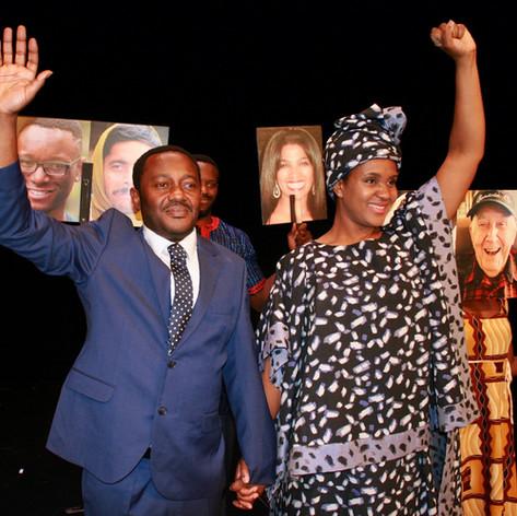 Annemarie Anang as Winnie Mandela in Free Mandela, Paul Stebbings, TNT Theatre/ADG Group, 2020