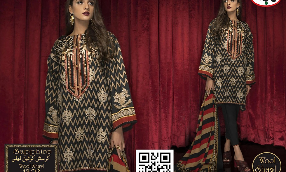 Crystal Twil Linen With Wool Shawl