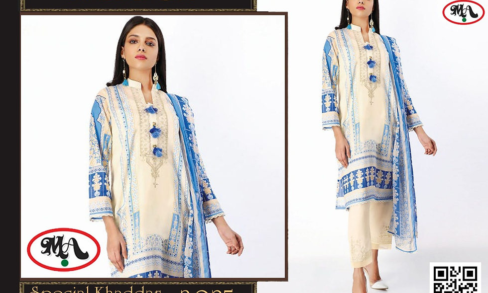 Special Khaddar Wool Shawl with printed trouser