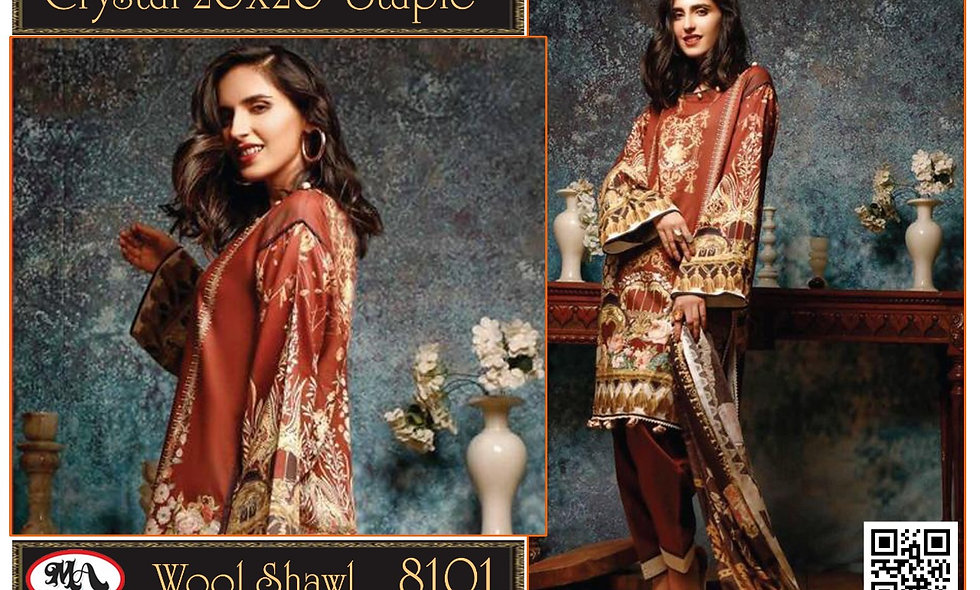Crystal 20/20 Staple Wool Shawl