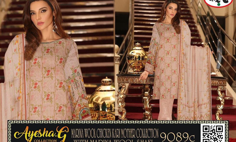 Marina Chiken kari Mother Collection With Marina Wool Shawl 5 suits 1 box