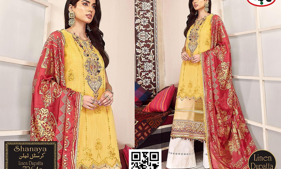 Crystal Linen With Linen Dupatta/ Wool Shawl 6 suits 1 box