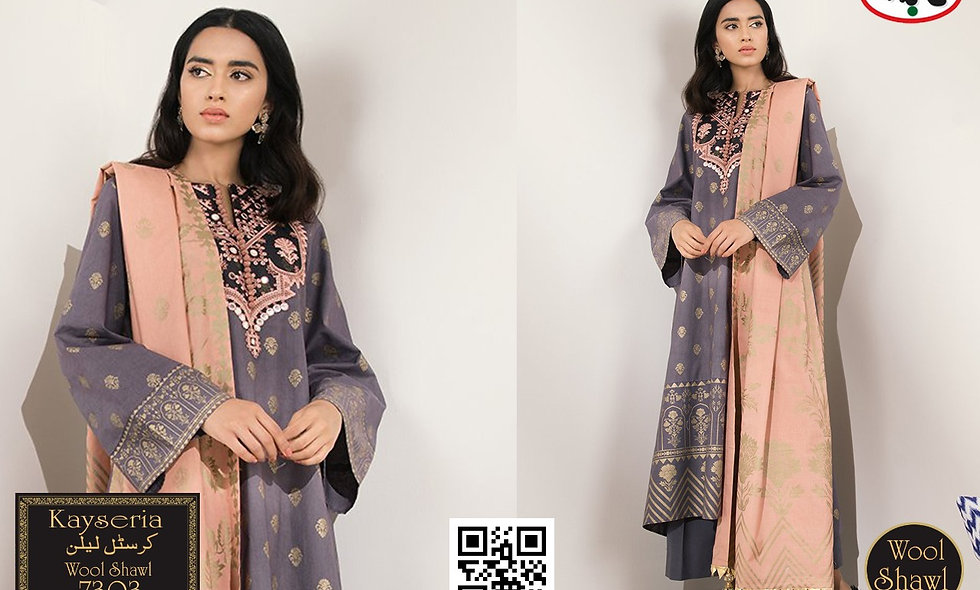 Crystal Linen WIth Wool Shawl