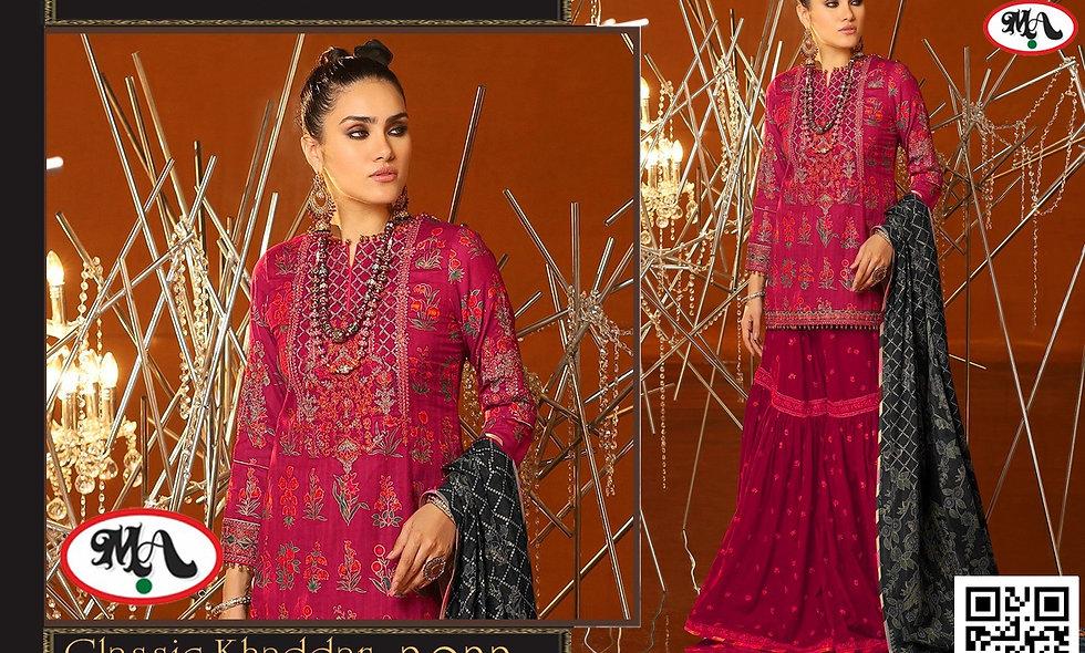 Classic Khaddar Wool Shawl printed Trouser