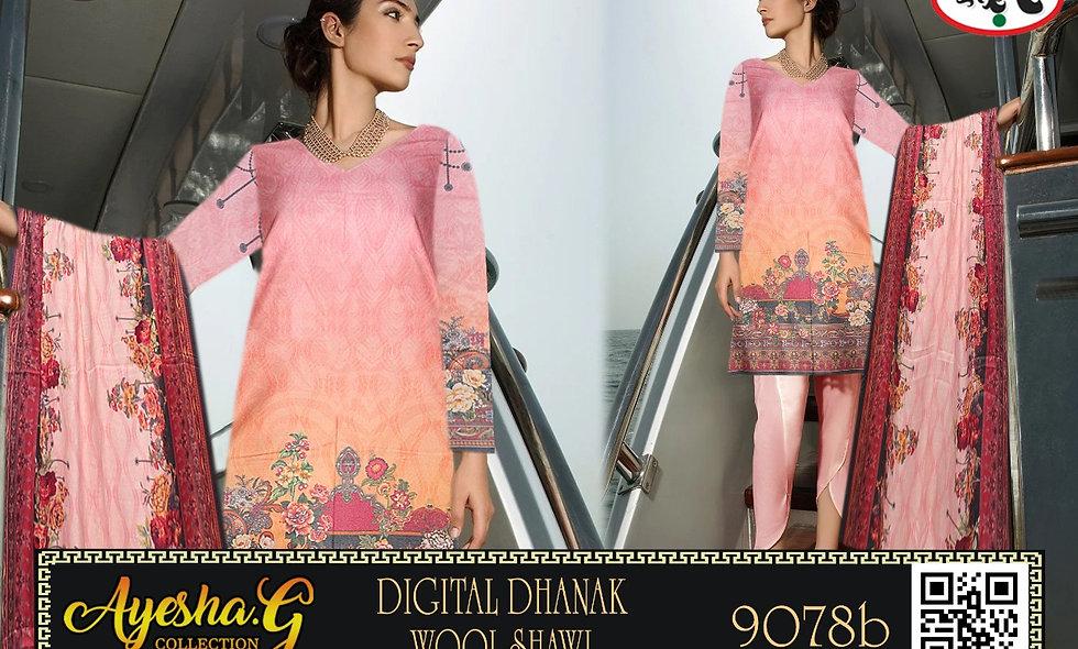 Digital Dhanak Wool Shawl 5 suits 1 box