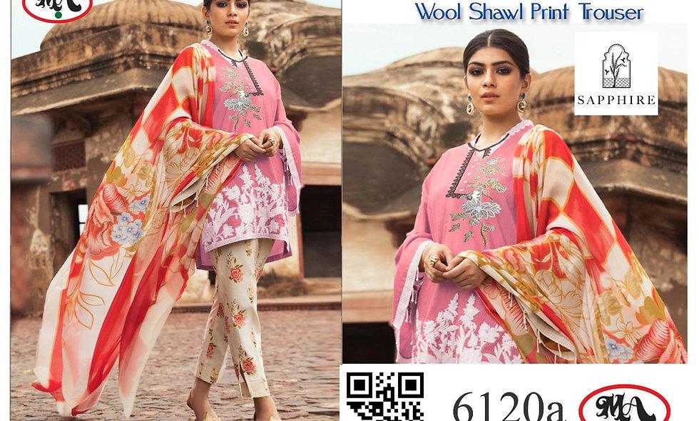 Classic Linen Wool Shawl Print Trouser