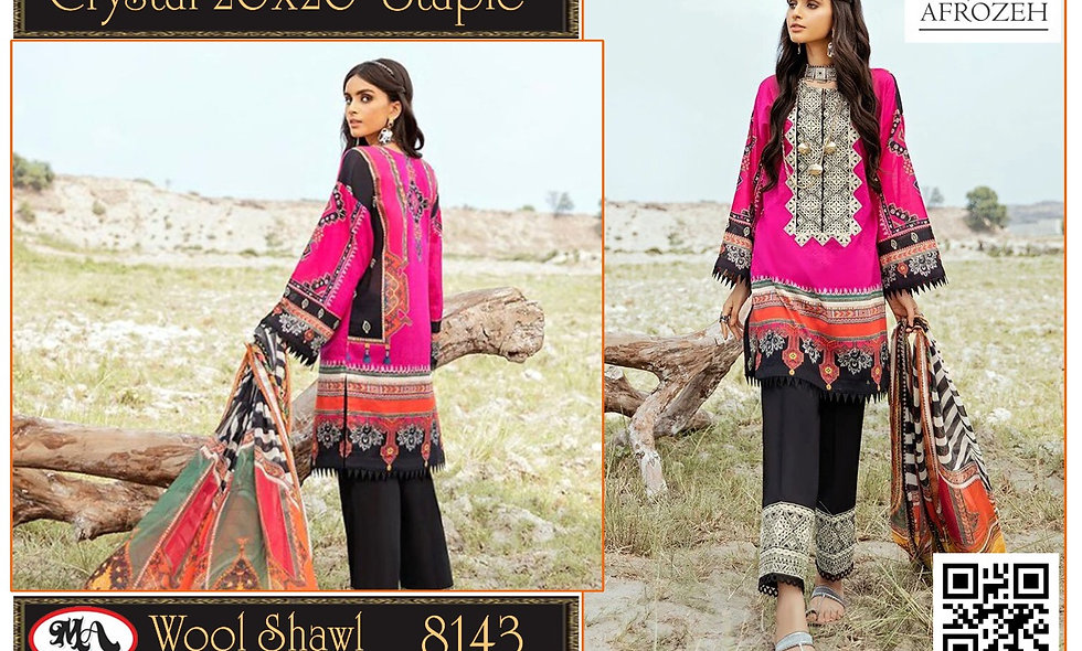 Crystal 20x20 Staple Wool Shawl