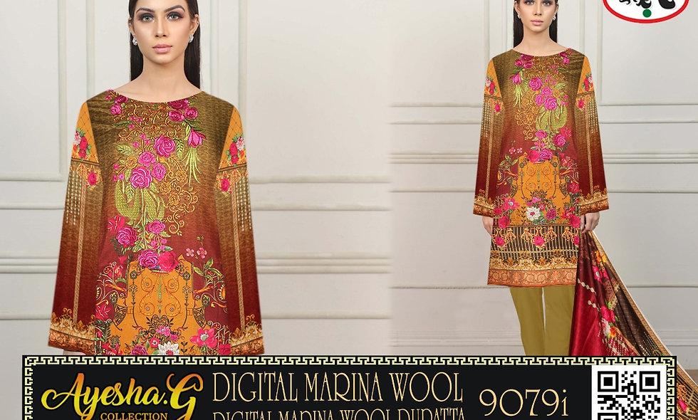 Digital Marina Wool Digital Marina Wool Dupatta 8 suits 1 box