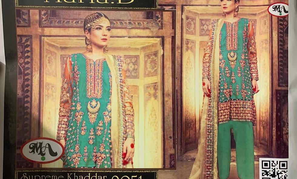 Supreme Khaddar With Wool Shawl  6 suits 1 box