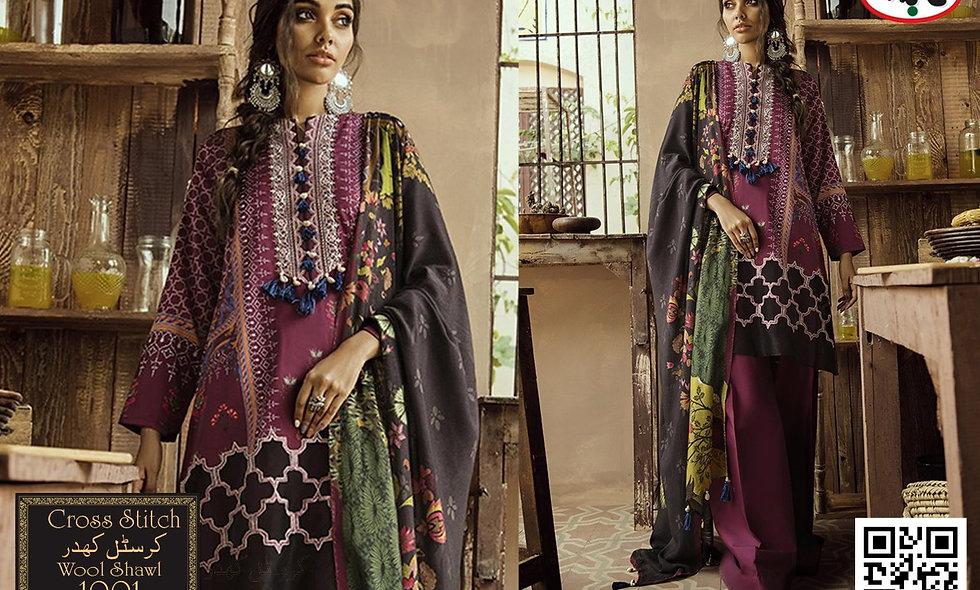 Crystal Khadar with Wool Shawl