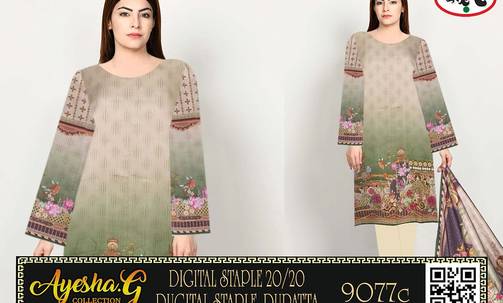 DIgital 20/20 Staple Digital staple Dupatta D9077 (7 suit 1 Box)