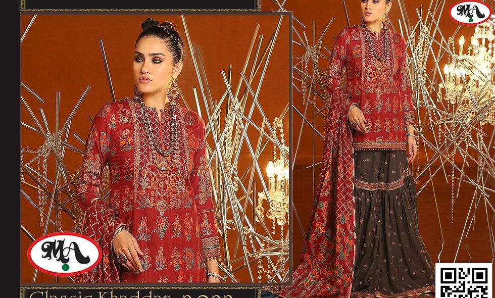 Classic Kaddar With Wool Shawl printed trouser