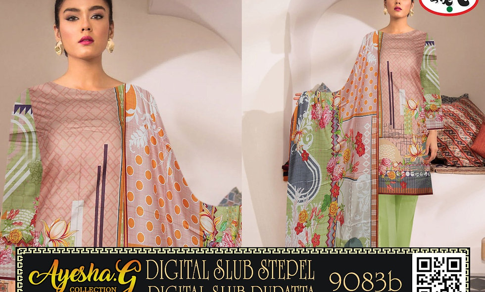 Digital Slub Staple Digital Slub Dupatta 6suits 1 box